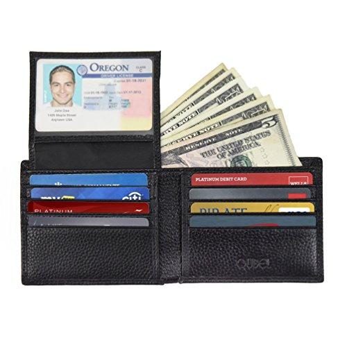 RFID Blocking Wallet Men Leather Bifold