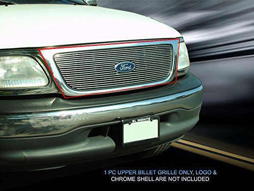 Fedar Main Upper Overlay Billet Grille Insert for Compatible With 1999-2003 Ford F150/Harley -