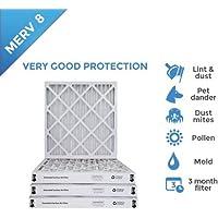 25x25x2 MERV 8 AC Furnace 2 Inch Air Filters - 8 PACK