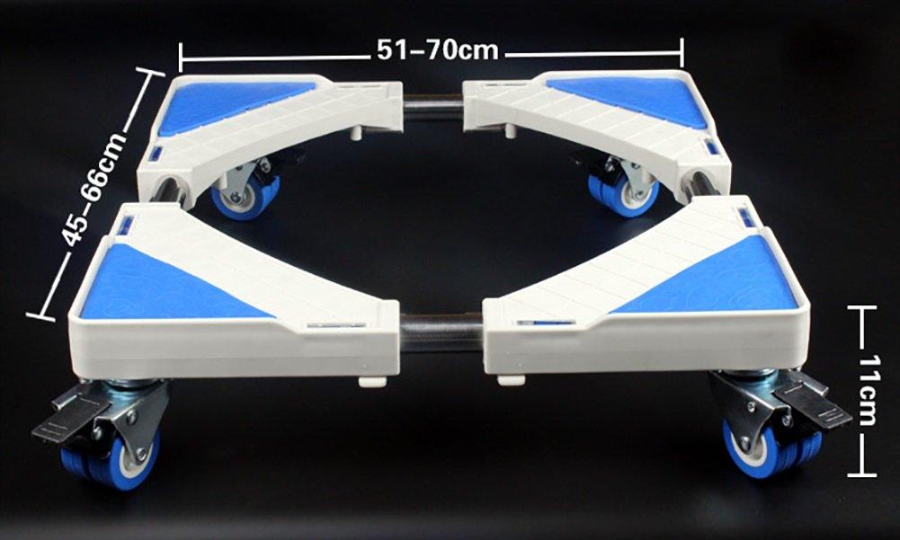 洗濯機 台 ドラム 調節可能な洗濯機ペデスタル冷蔵庫ベース可動式ラック(ブレーキ付) 防音 防振 ( 色 : 8 wheel )  8 wheel B078WF69B1