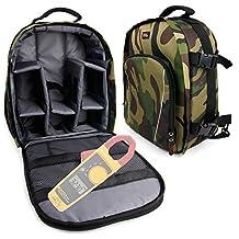 Camouflage Rucksack With Interior & Rain Cover for Fluke 323 True-rms Clamp Meter, Fluke 324 and Fluke 325 -by DURAGADGET