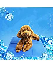 Pet Dog Cat Summer Cool Mat, Pet Self Cooling Gel Pad, Pressure Activated, Anti-inflammatory, 100% Safe Non-Toxic Materials, for All Dogs, Cats with Pet Toy Ball