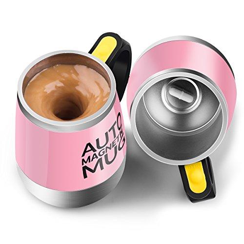 Self Stirring Mug (Pink) - 4