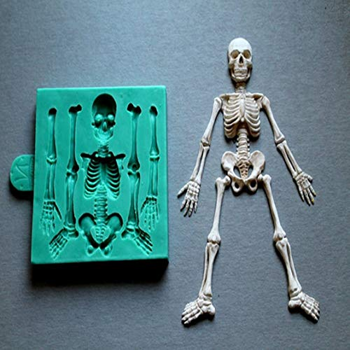 Silicone Mould Skeleton Halloween Sugarcraft Cake Decorating Fondant Mold Food Grade Molds For Cake Decorations -