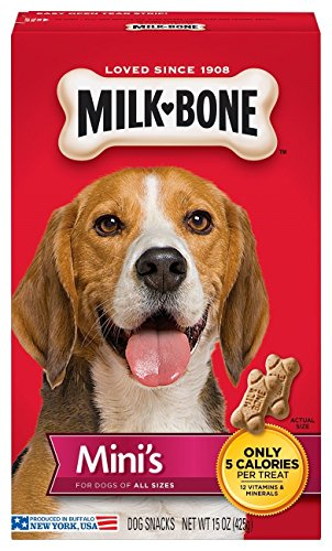 Milk-Bone Mini s Dog Treats, 15-Ounce Pack of 6
