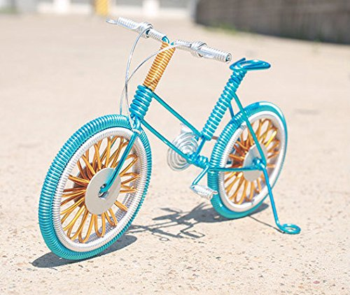 Youngyang Handmade aluminum art bike,Computer desk, desk Decoration,The mountain bike ornaments,Home Furnishing decoration crafts (Multiple color options) (the blue)