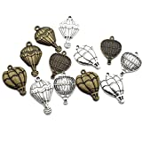 hot air balloon charm - Hot Air Balloon Charm-100g(55-60pcs) Craft Supplies Charms Pendants for Crafting, Jewelry Findings Making Accessory For DIY Necklace Bracelet M9