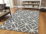 Gray Moroccan Trellis 8x11 Area Rug Carpet Large New Area...