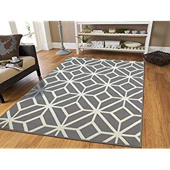 Gray Moroccan Trellis 8x11 Area Rug Carpet Large New Area Rugs 8x10  Clearance Under 100, 8x11 Carpet Grey