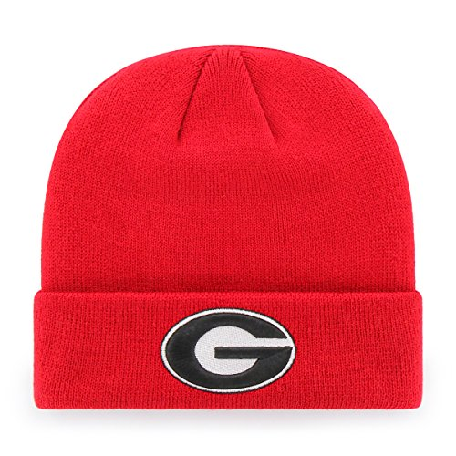 NCAA Georgia Bulldogs OTS Raised Cuff Knit Cap, Red, One - Dog Cuff