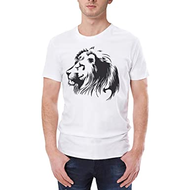 5d9c0c96 Amazon.com: 2019 New Men's Spring Summer Fashion Personality Animal  Printing O-Neck Summer Casual Short Sleeve T-Shirt Top White: Clothing