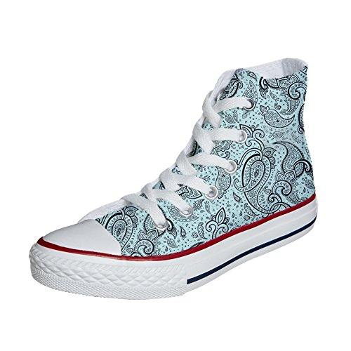 Zapatos Elegant Converse Unisex Personalizadas producto Paisley Customized All Star Eww0q6gU