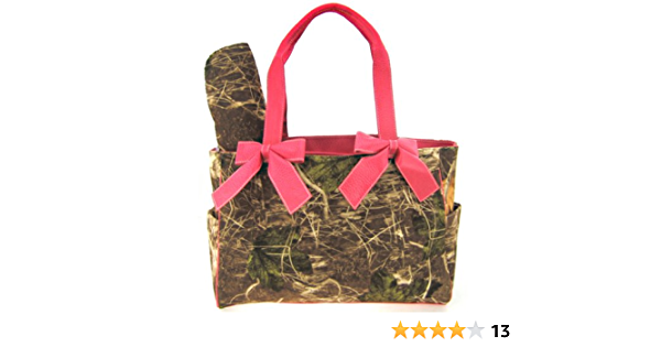 Pink Camo Ruffled Tote Bag