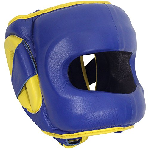 Ringside Deluxe Face Saver Boxing Headgear, Blue, Large/X-Large