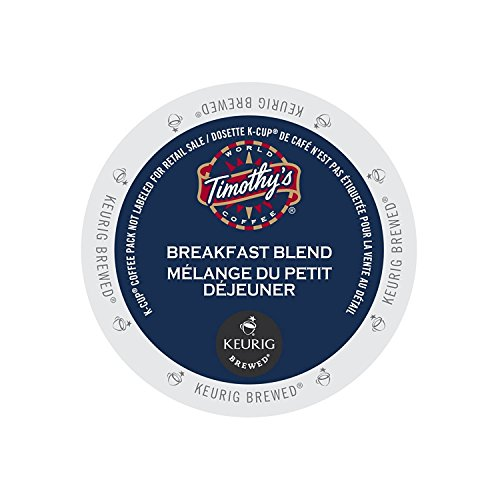 Timothy's World Coffee Breakfast Blend for Keurig Brewers 2 Boxes x 24 K-Cups