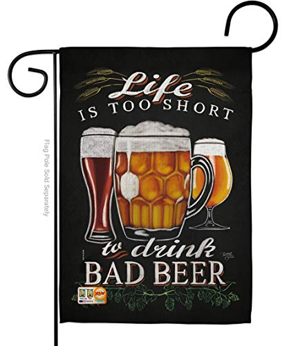 Breeze Decor G167050-P3 Drink Bad Beer Happy Hour & Drinks Beverages Impressions Decorative Vertical 13