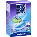 Clear Care Lens Cleaning Solution Travel Pack 3 oz per Bottle (12 Pack)