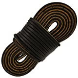 TOFL Logger Leather Boot Laces--A pair and A spear--3 Leather Boot laces each 54 Inch Long, Midnight Brown (54 inch midnight)