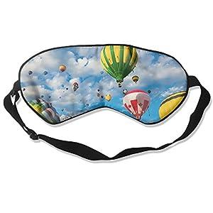 Hot Air Balloons Sleep Eye Mask 100% Mulberry Silk Blindfold Travel Sleep Cover Eyewear