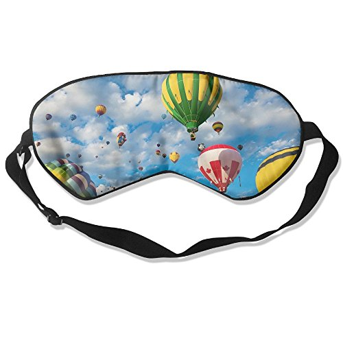 Hot Air Balloons Sleep Eye Mask 100% Mulberry Silk Blindfold Travel Sleep Cover Eyewear