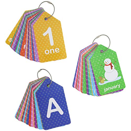 Bright Creations 3-Pack First Words (Alphabet & Numbers) Flash Cards for Infants and Preschoolers (Cards Flash Large Alphabet)