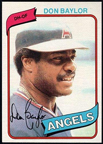 1980 Angels California (Baseball MLB 1980 Topps #285 Don Baylor Angels)