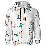 Mens 2017 Cool Ballet Hoodie Design Retro Sweatshirts For Men Hip Hop Young Hoodie Sweatshirt