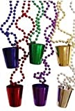 Mardi Gras, Shot Glass Necklace, Beads, 7 mm, 33'', 10 Dozen (120pcs).