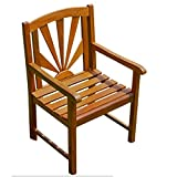International Caravan VF-4207-2CH-IC Furniture Piece Acacia Sapporo Chair