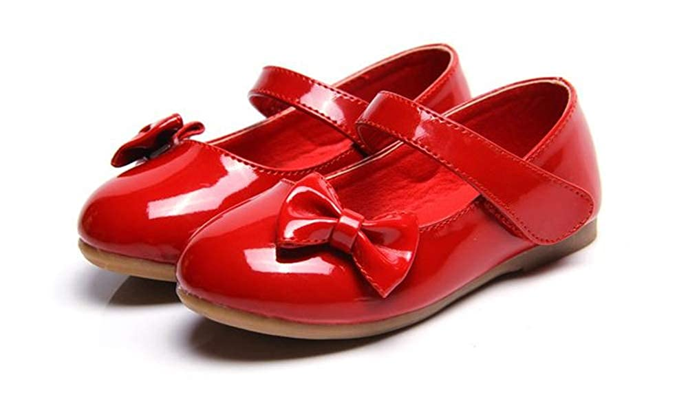 Toddler//Little Big Girls Rose town Kids Sweet Bowkont Ballet Flats Mary Jane School Shoes
