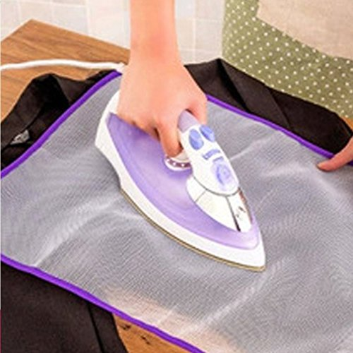 QEES 5-Pack Protective Ironing Mesh Pressing Pad, Pressing Cloth for Ironing, Scorch-Saving Ironing Protector Mesh Cloth, Gift for Mother/Girl-Random Color TYZ05