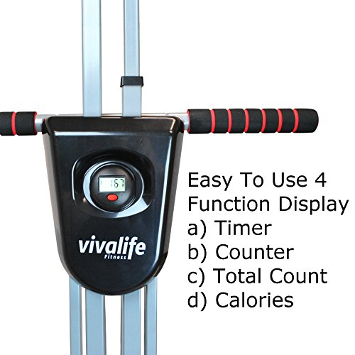 Viva Life Fitness Vertical Climber Exercise Machine | Max Calories Burned In Minimum Time | Simulates Climbing Ladder or Stairs | Folding & Portable Design