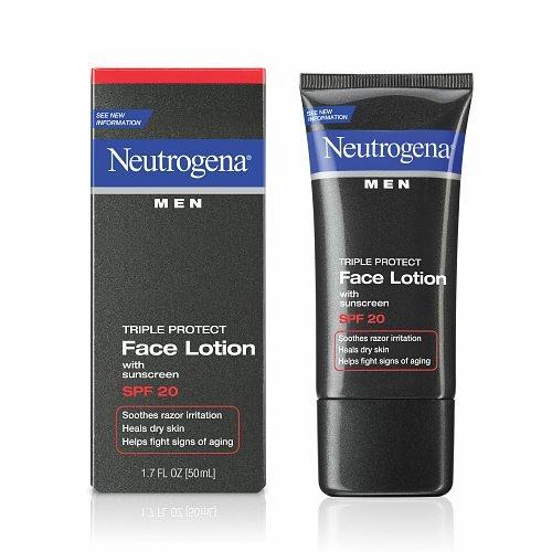 Neutrogena Men Triple Protect Face Lotion, SPF 20 1.7 oz / 50 - Men Face Lotion Triple Protect