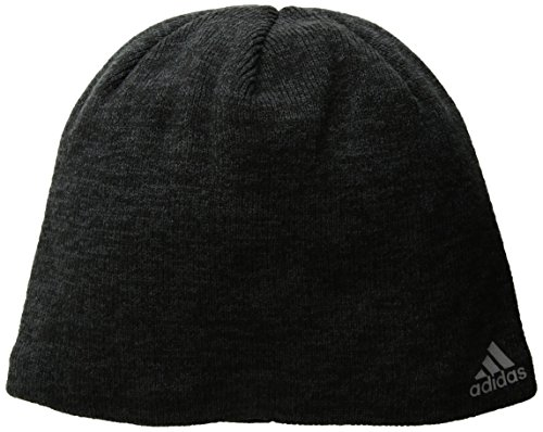 adidas Men's Paramount Beanie, Black/Night Grey/Tech Steel, One Size (Adidas Mens Steel Watch)