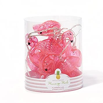 Amazontwos company 51617 flamingo flock led string lights in gift twos company 51617 flamingo flock led string lights in gift tube includes 10 lights plastic negle Image collections