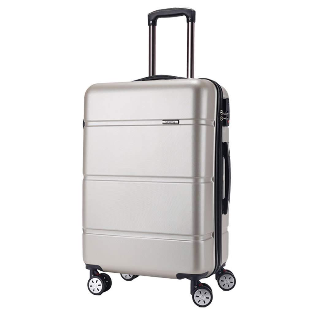 スーツケース超軽量ABSハードシェル旅行は4つのホイール、航空&詳細情報のために承認されたハードシェルトロリーサイズのアドオンキャビンハンド荷物スーツケースキャリー B07P4KXFPD B 38L