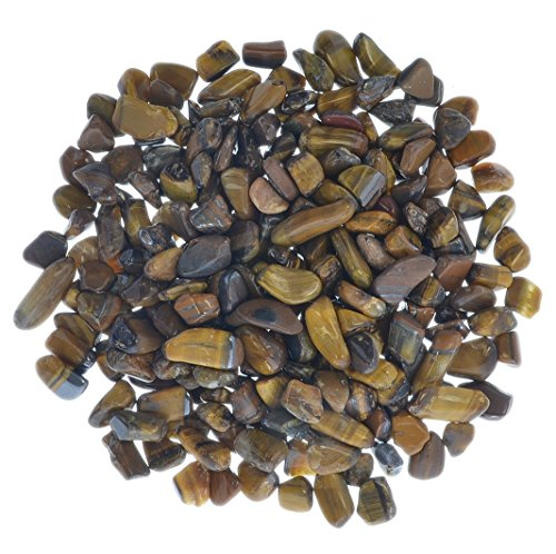Hypnotic Gems Materials: 1 lb Tumbled High Grade Gold Tiger Eye Chips - 1/4