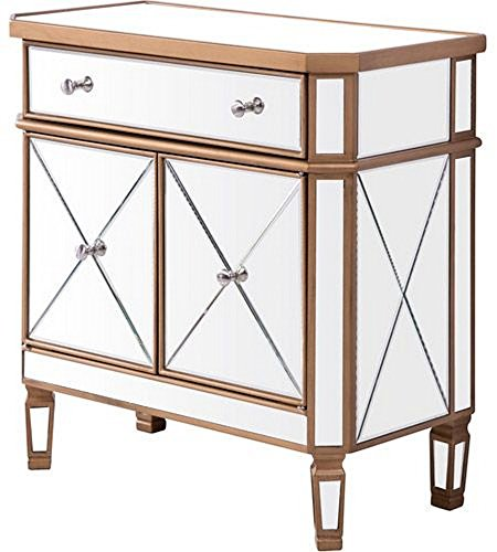 1 Drawer 2 Door Cabinet 32 in. by 16 in. by 32 Finish with Clear (2 Door 1 Drawer Hall)