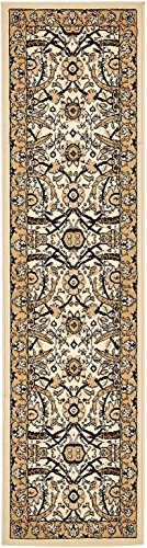 Unique Loom Espahan Collection Classic Traditional Ivory Runner Rug (2