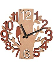 Umi. Essentials Tree-Shape Wall Clock Silent Non-Ticking Clocks for Office Kitchen Living Room Decor