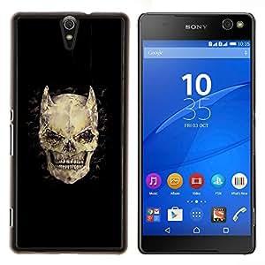 Stuss Case / Funda Carcasa protectora - Cuernos Huesos Cráneo diablo Horror Muerte - Sony Xperia C5 Ultra