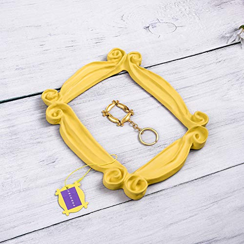 Peephole Frame, Like Monica's Door Frame,100% Handmade Yellow Door Frame What You Want and It's Great Present for a Fan (Yellow Picture Frame From Friends)