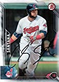 Carlos Santana autographed signed Topps auto card Cleveland Indians COA - - (Near Mint Condition)