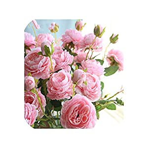 Western Rose core 3 Heads Peony Artificial Flower Manufacturers Home Christmas Decor Wedding Silk Flower Wall Materials Peony 118