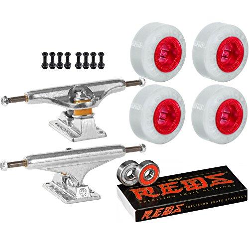 ご予約応援する野望Independentスケートボードキット139 Trucks Rictaクロムコア53 mm 99 a Wheels Reds