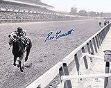 #9: Ron Turcotte Signed 1973 Secretariat 8x10 Black & White Photo JSA Hologram & COA
