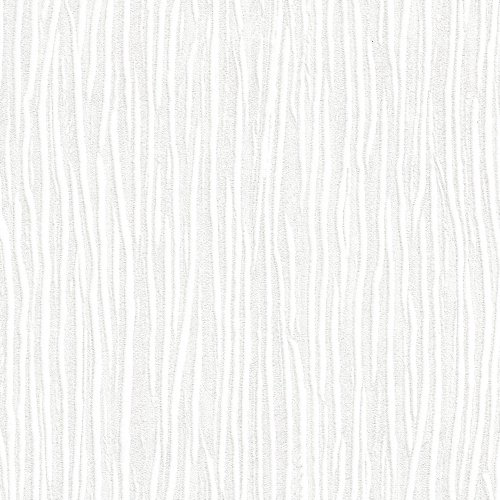 (Forest White Embossed Textured Wallpaper For Walls - Double Roll - By Romosa Wallcoverings)