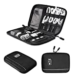 BAGSMART Small Travel Electronic Accessories Bag, Black