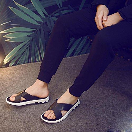 Hedo de para zapatos Saihui casuales negro Sapatos de Sapatenis hombre playa Zapatillas verano w00vqt4