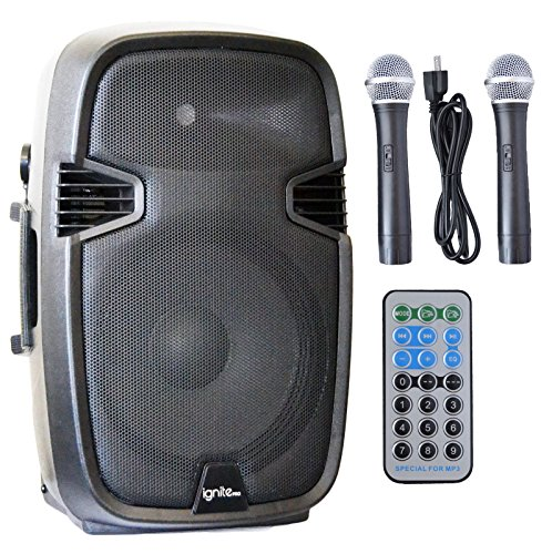Ignite Pro 12'' Pro Series Speaker DJ / PA System Rechargeable Battery / Bluetooth Connectivity 1500W Peak Power by AudioQuest
